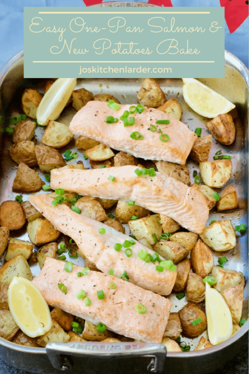 Easy One-Pan Salmon & New Potatoes Bake