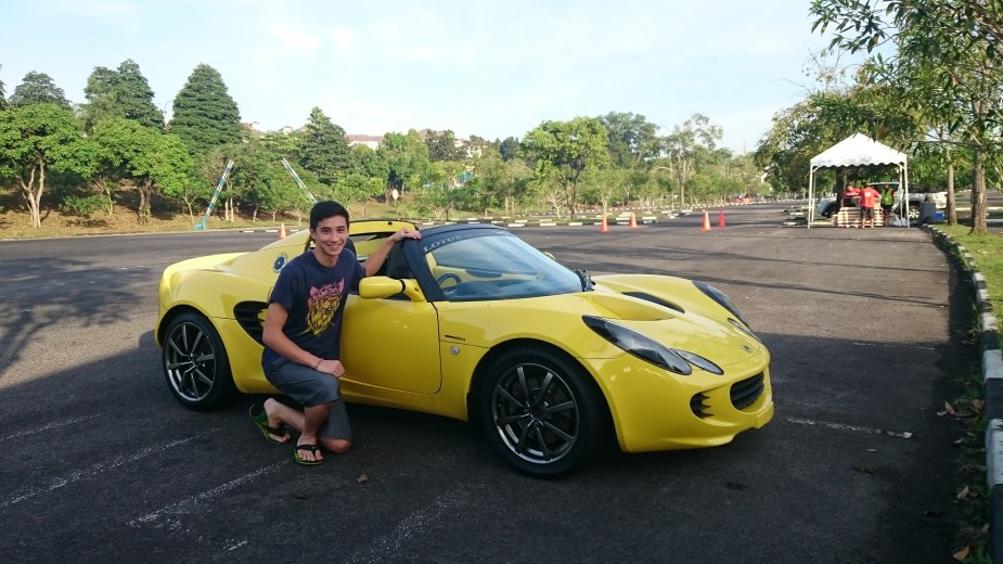 Me and the Lotus, wasn't lucky enough to get a ride though.