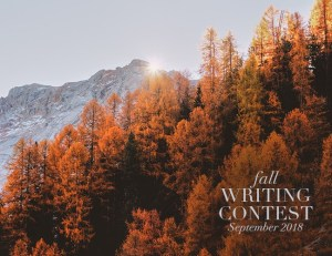 Fall Writing Contest 2018