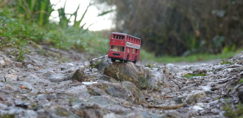 Doubledecker on a bumpy road