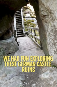 This castle ruin in Bavaria involves a beautiful woodland hike and lots of stairs! #german castle #hike #bavaria