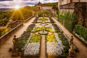Baroque garden in beautiful Würzburg, Germany