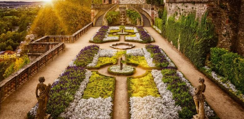 Baroque garden in Würzburg, Germany