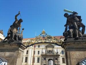 Palace entrance Prague
