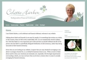 Colette Harber Funerals website