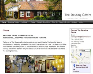 The Steyning Centre Home page