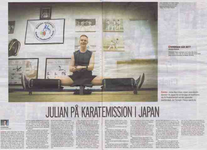 Julian-på-karatemission-i-Japan