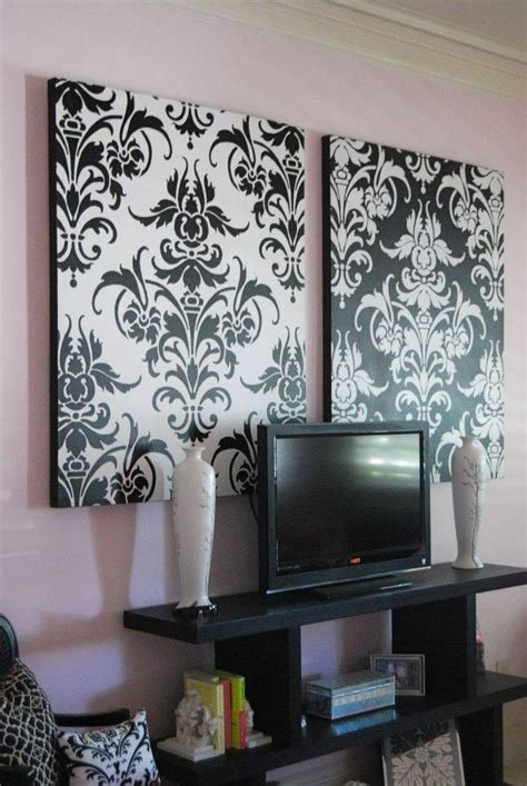 Best 30 Photos Black And White Damask Wall Art With Pictures
