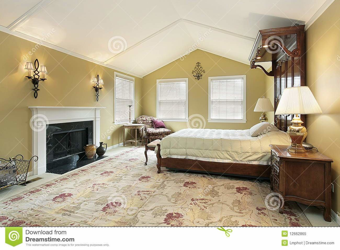 Best Master Bedroom With Gold Walls Stock Image Image Of With Pictures
