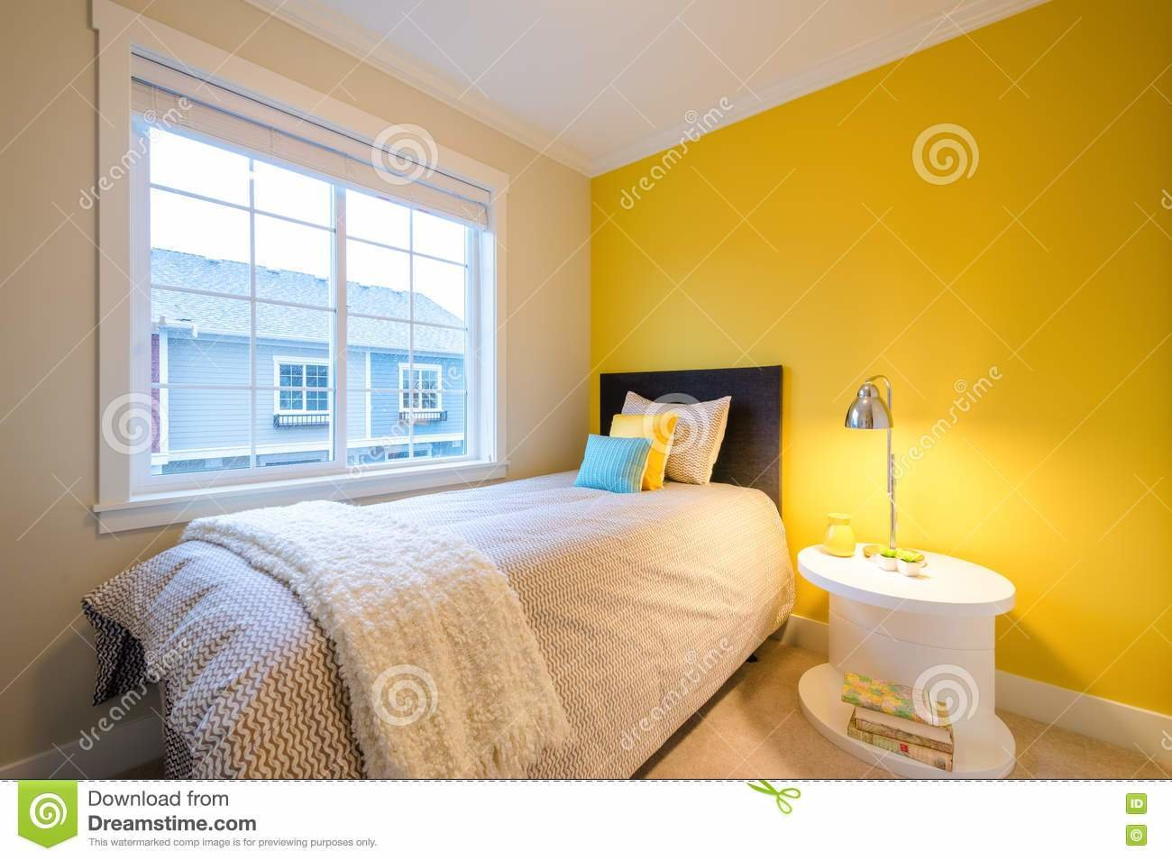 Best Modern Yellow Bedroom Stock Photo Image Of Furniture With Pictures