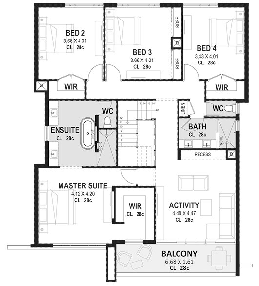 Best 4 Bedroom 2 Storey House Plans Designs Perth Novus Homes With Pictures