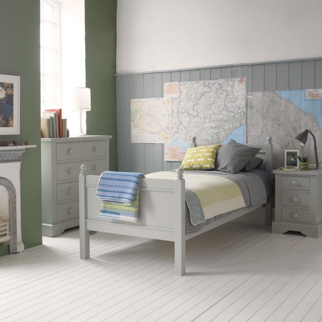 Best Fargo Single Bed Farleigh Grey By Little Folks With Pictures
