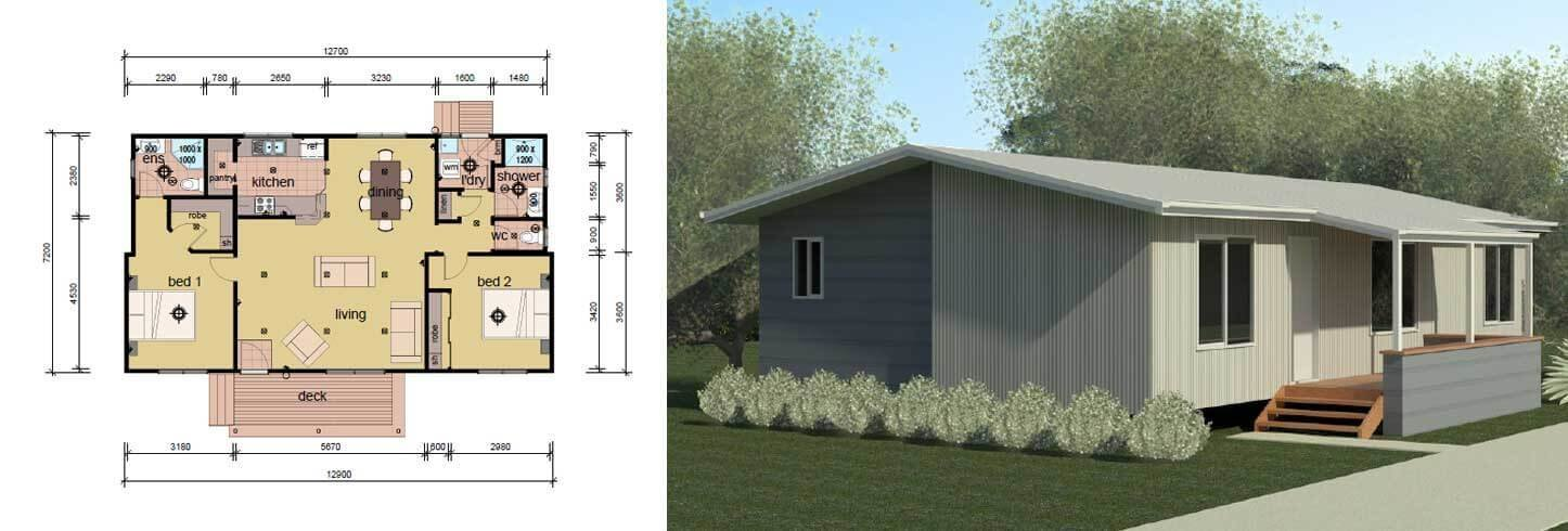 Best The Drysdale 2 Bedroom 2 Bathroom Modular Home Parkwood With Pictures