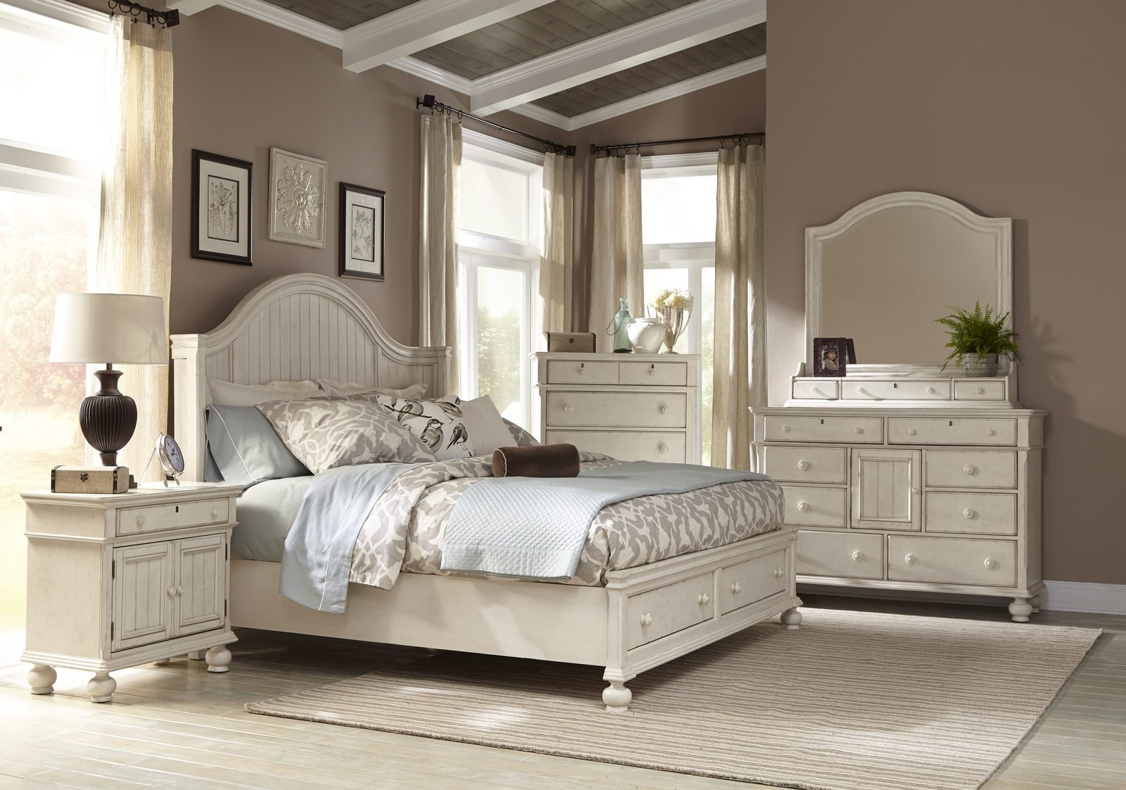 Best American Woodcrafters Newport 4 Piece Panel Bedroom Set W With Pictures