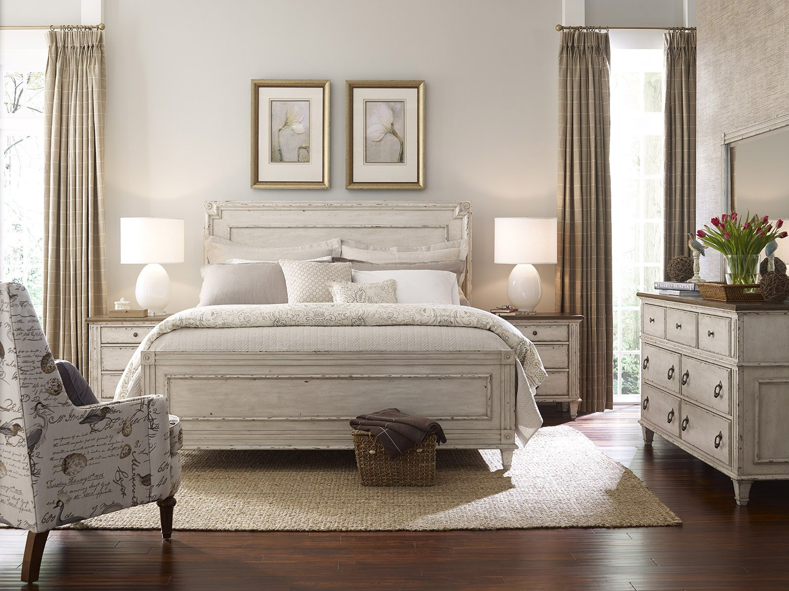 Best American Drew Southbury 4Pc Panel Bedroom Set In Fossil With Pictures