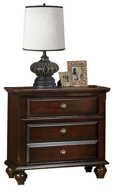 Best Crown Mark Furniture Portsmouth Nightstand In Rich Cherry With Pictures