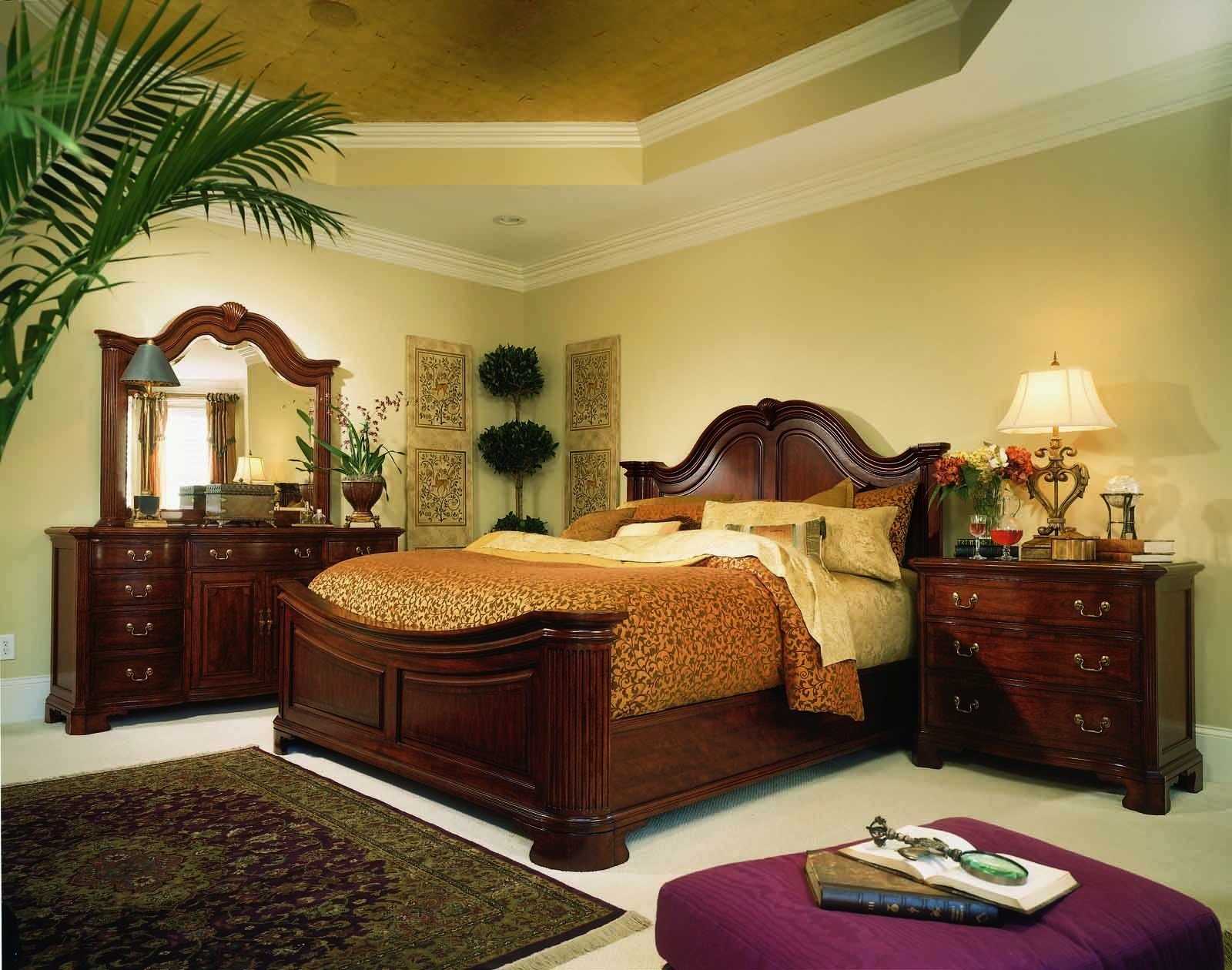 Best American Drew Cherry Grove Mansion Bedroom Set In Cherry With Pictures