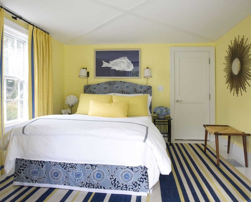 Best Navy Bedroom Eclectic With Yellow And Traditional Table Lamps With Pictures