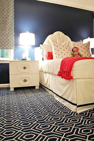 Best Remodelaholic Pink And Navy Girl S Room Idea With Pictures