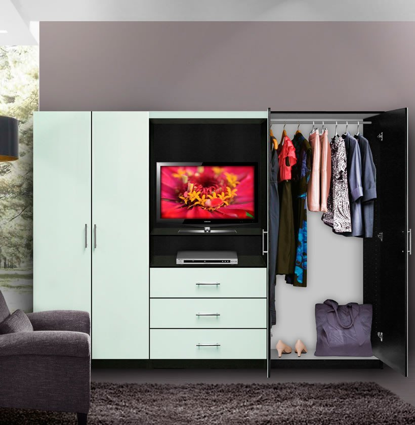 Best Aventa Bedroom Wall Unit Tv Unit W Drawers And Doors With Pictures