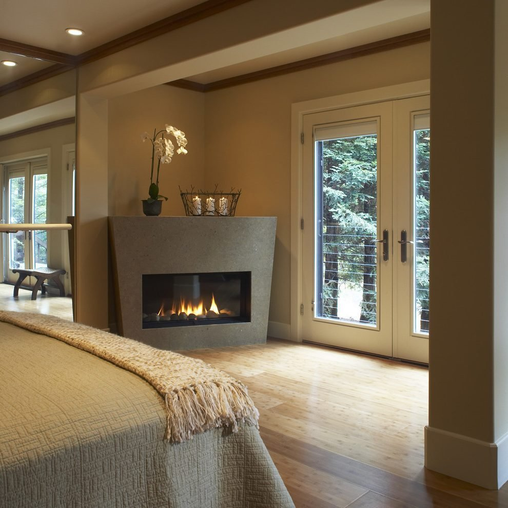 Best Isokern Gas Fireplace Bedroom Contemporary With Wood With Pictures