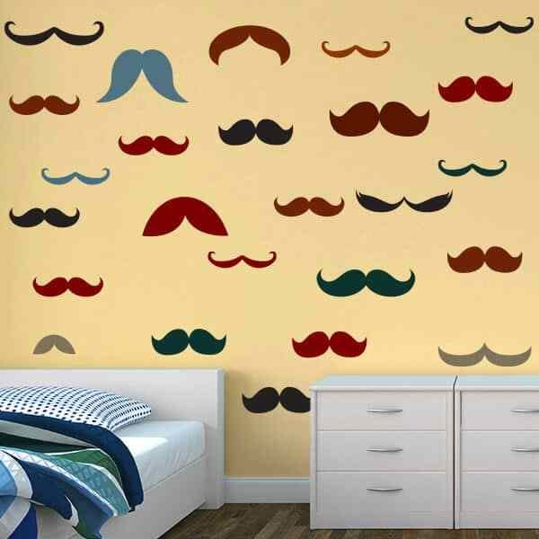 Best Moustache Wall Stickers Moustache Wall Decals Sticker With Pictures