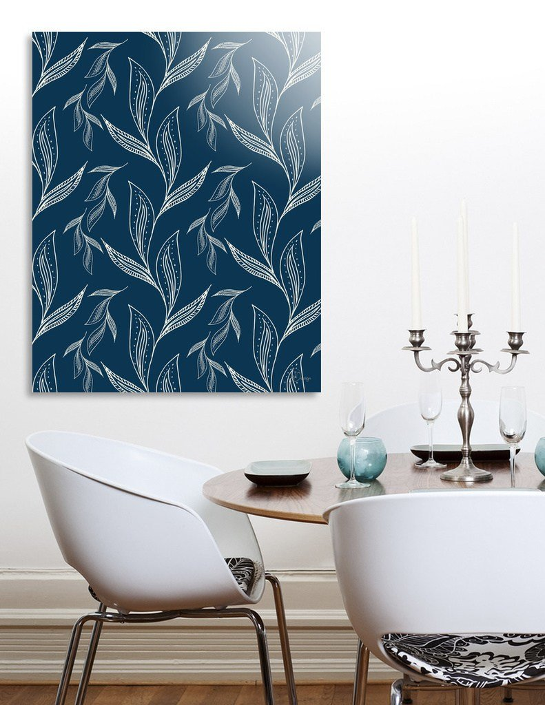 Best «Indigo Foliage» Acrylic Glass Print By Designdn Curioos With Pictures