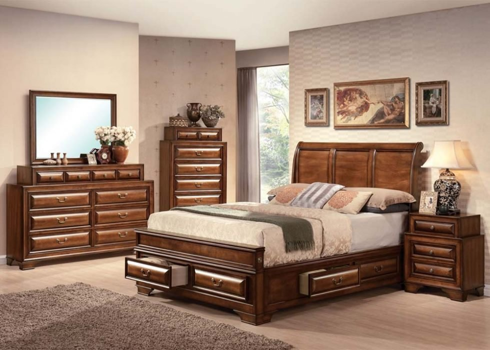Best Sleigh Bedroom Sets With Drawers Under Bed Bedroom Set With Pictures