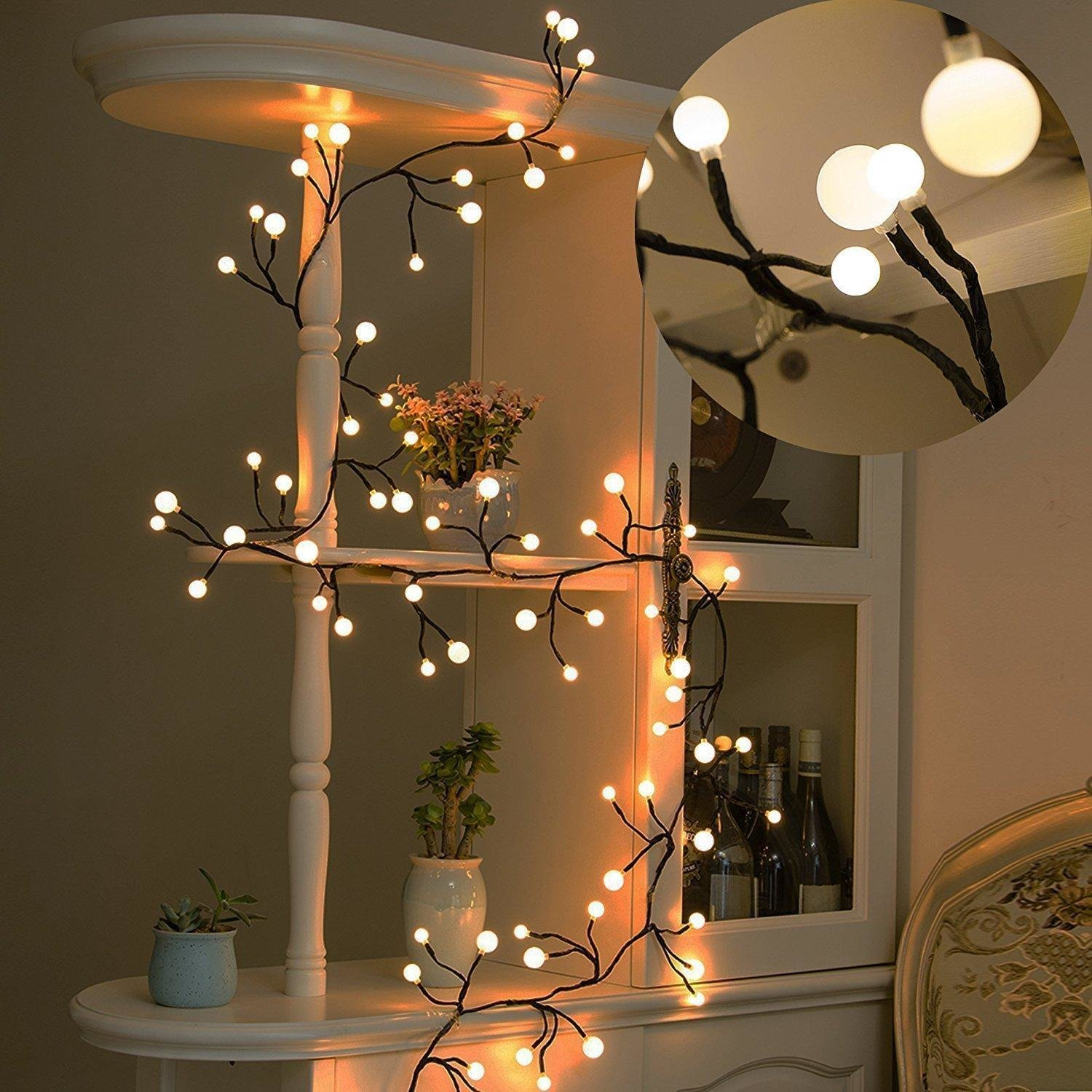 Best Globe String Lights 8Ft 72 Led Waterproof Outdoor Indoor With Pictures