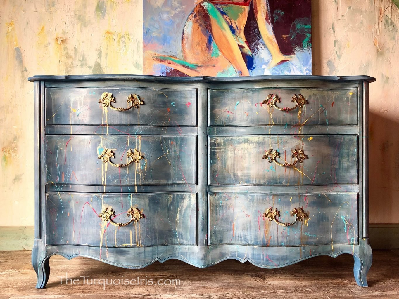 Best Hand Painted Blue Dresser – Hand Painted Vintage Furniture With Pictures