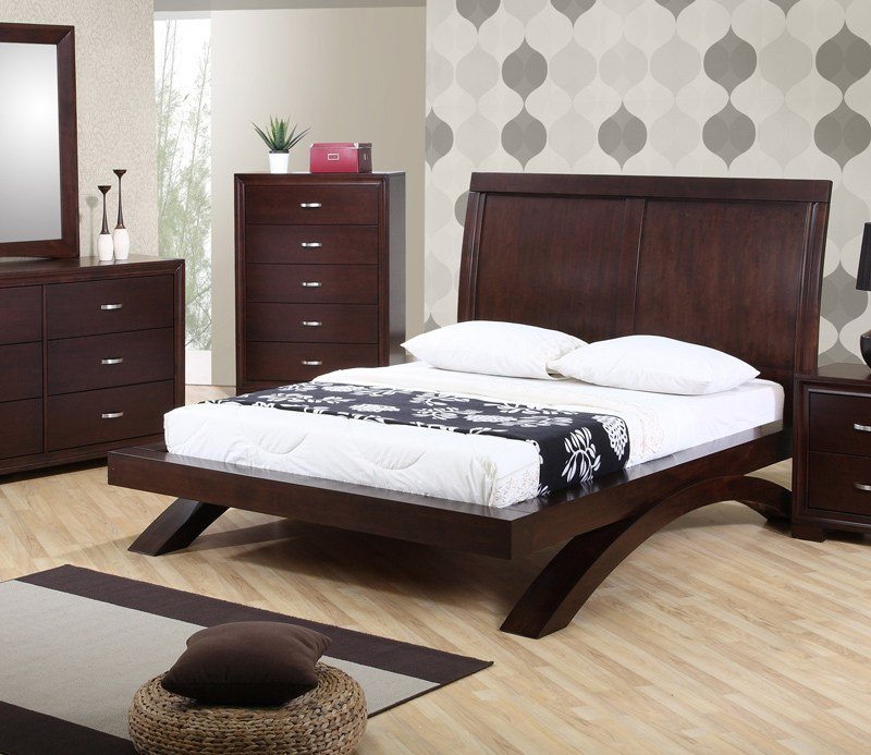Best Raven Bedroom Set Dark Cherry Finish Rv100Qb Decor South With Pictures