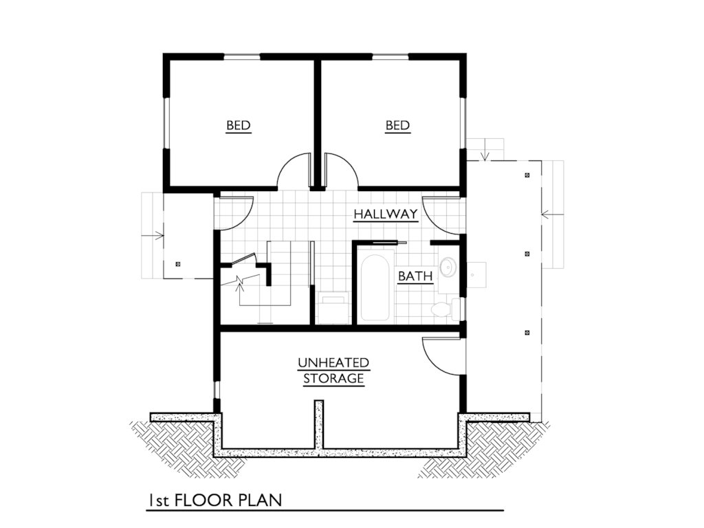 Best 1000 Sq Ft House Plans 3 Bedroom — Modern House Plan Modern House Plan With Pictures