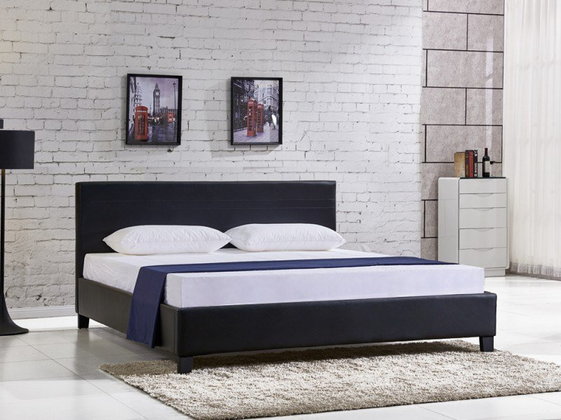 Best Super King Slat Pu Bed With Headboard With Pictures