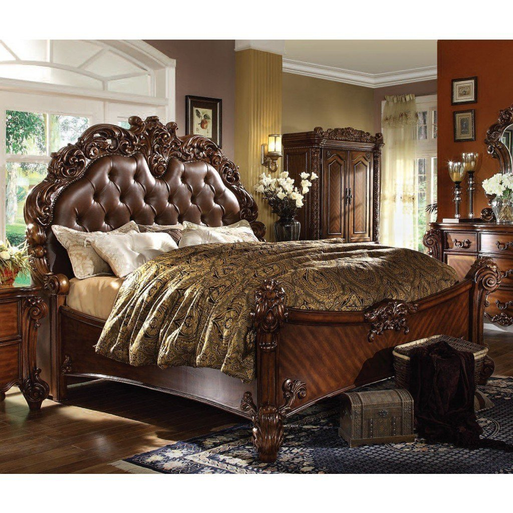 Best Vendome Panel Bedroom Set Cherry Acme Furniture With Pictures