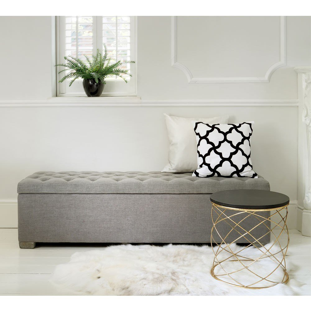 Best Buttons Grey Ottoman Luxury Ottoman With Pictures