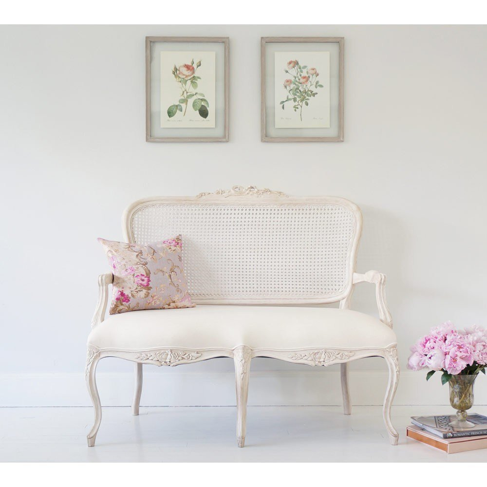 Best Vignette White Washed French Rattan Sofa Bedroom Sofa With Pictures
