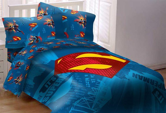 Best Superman Emblem 4 Piece Comforter Set With Pictures