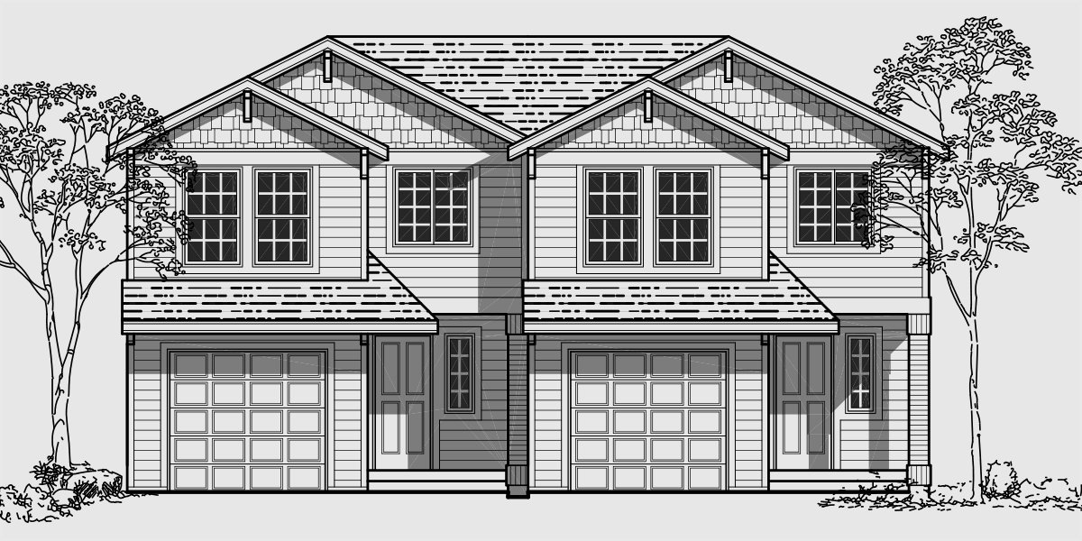 Best Two Story Duplex House Plans 4 Bedroom Duplex Plans With Pictures