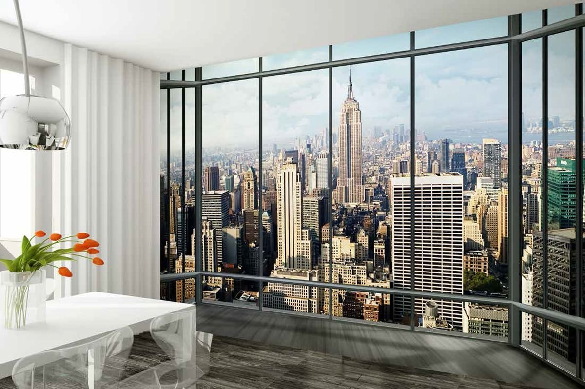 Best Wall Mural New York City Skyline P*Nth**S* Photo With Pictures