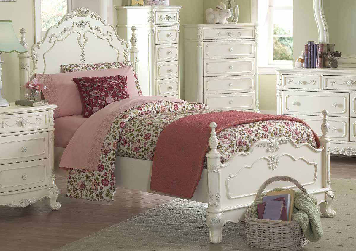 Best Homelegance Cinderella Poster Bedroom Set Ecru B1386Tpp With Pictures