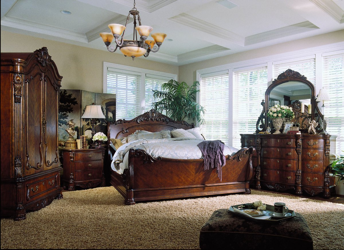 Best Pulaski Edwardian Sleigh Bedroom Collection Pf B242170 At With Pictures