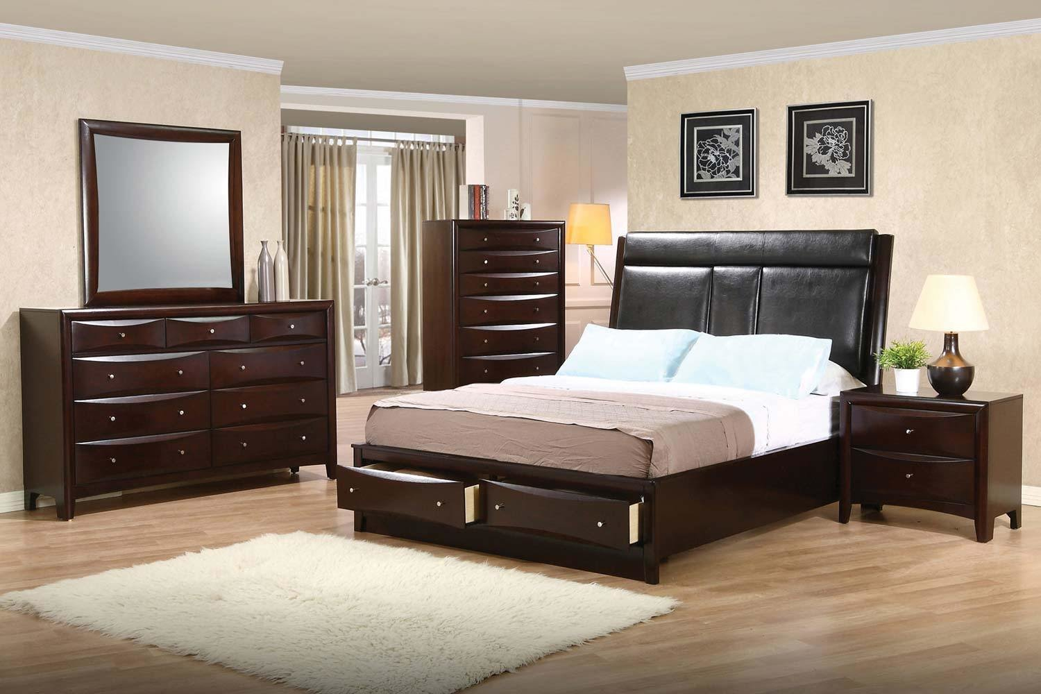 Best Coaster Phoenix Upholstered Storage Bedroom Set Deep With Pictures