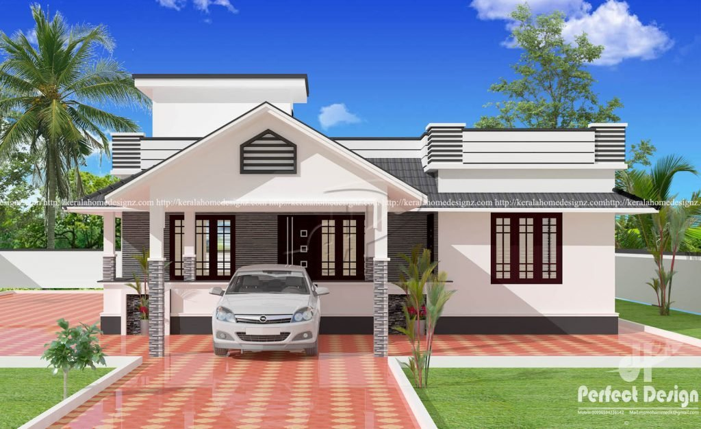 Best 1153 Sq Ft 3 Bedroom Beautiful Single Floor Slop Roof With Pictures