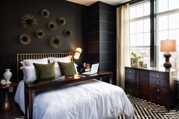 Best Bedroom Decorating With Black Wallpaper 2 Modern Wall With Pictures