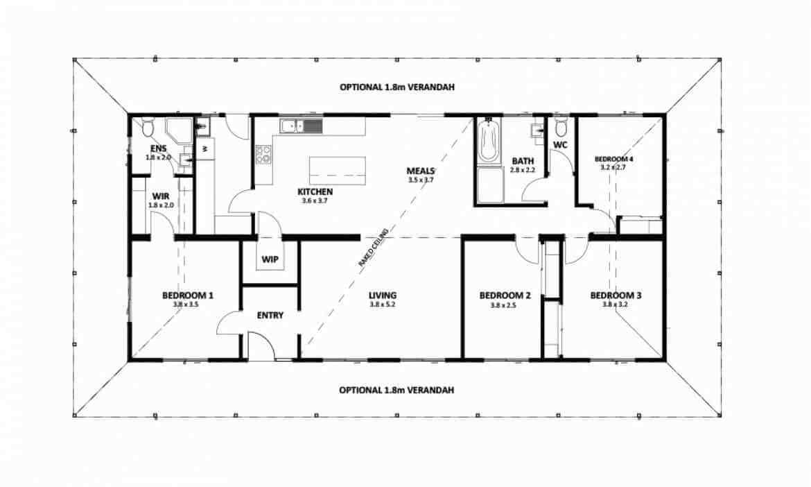 Best 4 Bedroom And 2 Bathroom Homestead 3 Design Anchor Homes With Pictures