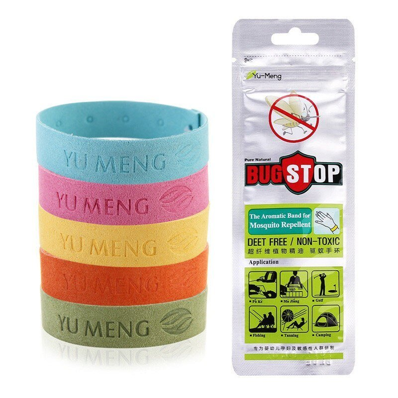 Best 5Pcs Ultra Fiber Insect Repellent Bracelet Essential Oil With Pictures