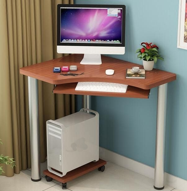 Best 80 60 74Cm Modern Computer Desk Bedroom Corner Table Writing Desk With Keyboard Mainframe Tray With Pictures