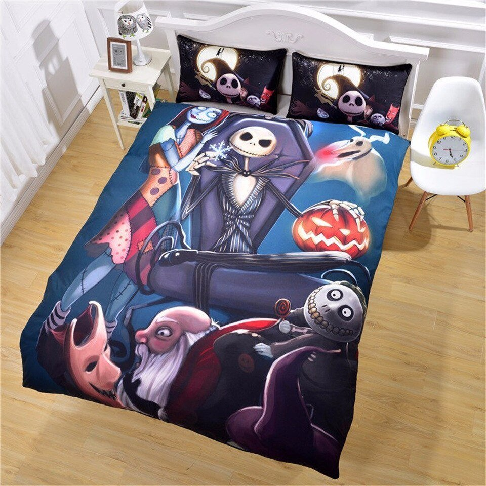 Best Nightmare Before Christmas Twin Full Queen King Bedclothes With Pictures