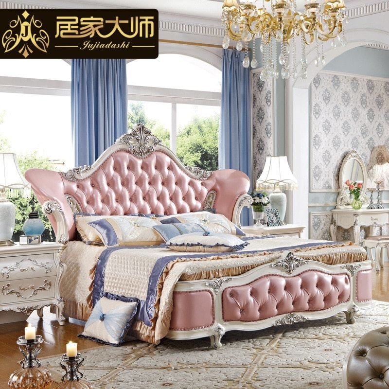 Best China Guangzhou Leather Modern Luxury Princess Bedroom With Pictures
