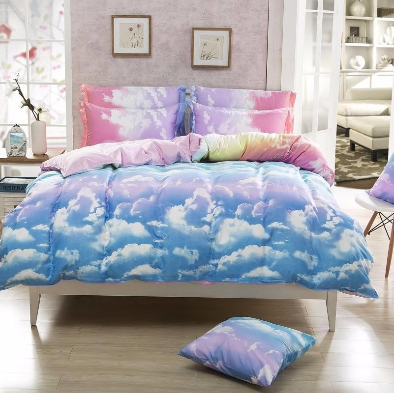 Best Cheap Bedding Set Beautiful Clouds Duvet Cover Sets With Pictures
